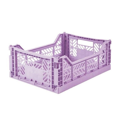 AY-KASA Midi Folding Storage Crate in Orchid