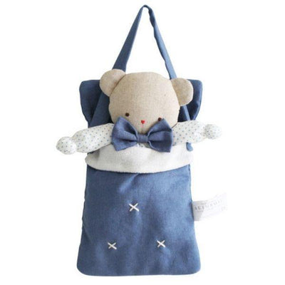 Alimrose Baby Doll Carry Bag in Chambray Linen