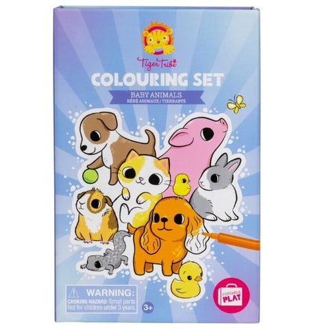 Colouring Set Baby Animals