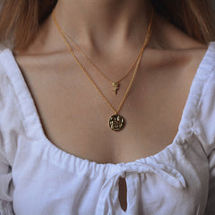 Jolie & Deen Helena Coin Necklace