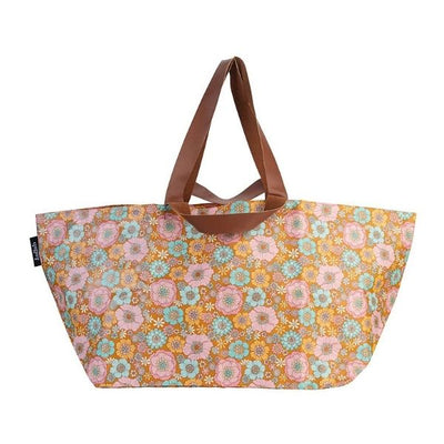 Kollab Beach Bag Retro Aqua Floral