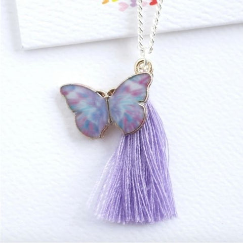 Lauren Hinkley Purple Butterfly Necklace