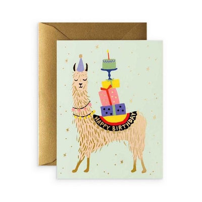 Rifle Paper Co Single Card Llama Birthday
