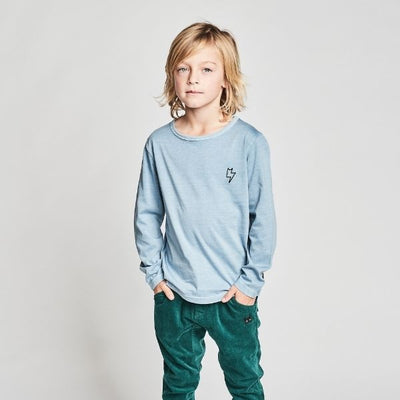 Munster Kids Freeride Long Sleeve Tee in Mid Blue