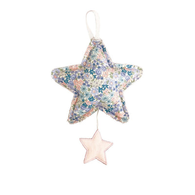 Alimrose Designs Star Musical Mobile in Pink Linen & Liberty Blue - The Corner Booth