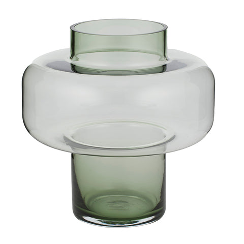 Sven Glass Vase in Green