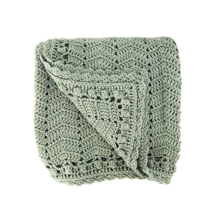 OB DEsigns Crochet Blanket in Sage