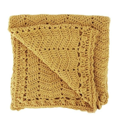 OB Designs Crochet Blanket in Turmeric