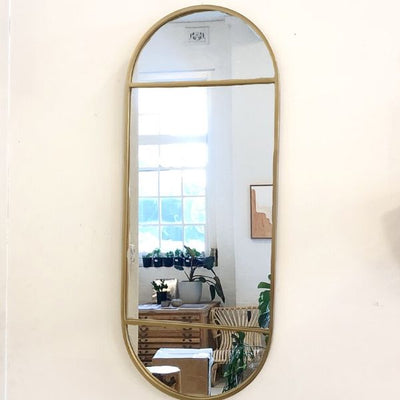 Lysha Oval Brass Mirror * PRE-ORDER SEPT DELIVERY