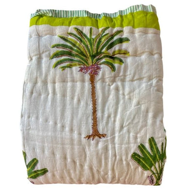 Baby Cot Throw in Palms