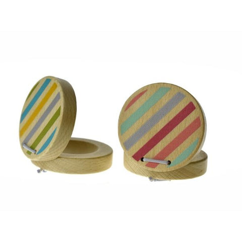 Wooden Castanet Pastel-Kids Musical Toys-Kids Gifts and Toys Sydney