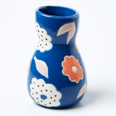 Saturday Vase Blue Floral