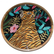 Lacquered Tiger Tray