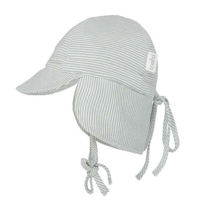 Toshi Flap Cap in Sage