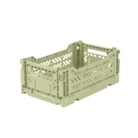 AY-KASA Mini Folding Storage Crate in Lime Cream - The Corner Booth