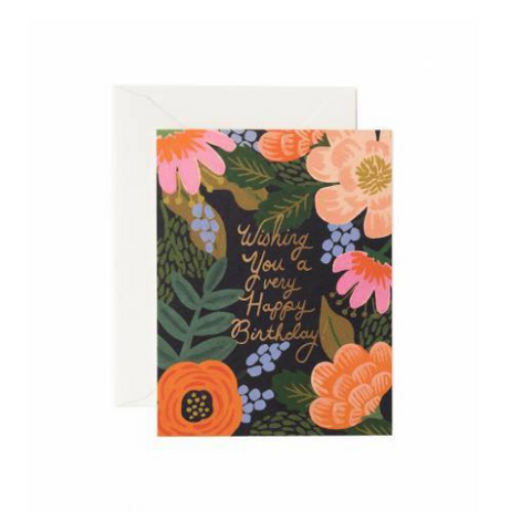 Rifle Paper Co Single Card Bordeaux Birthday