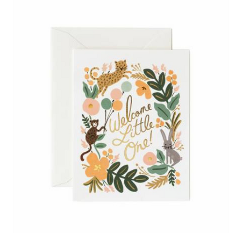 Rifle Paper Co  Single Card Menagerie Baby