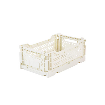 AY-KASA Mini Folding Storage Crate in Coconut - The Corner Booth