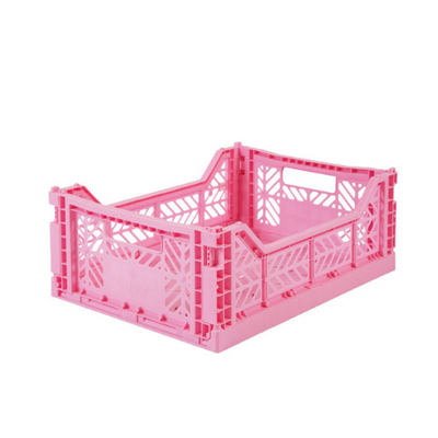 AY-KASA Midi Folding Storage Crate in Baby Pink - The Corner Booth