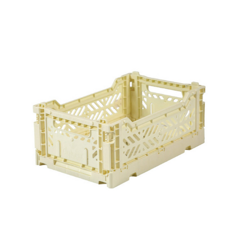 AY-KASA Mini Folding Storage Crate in Banana