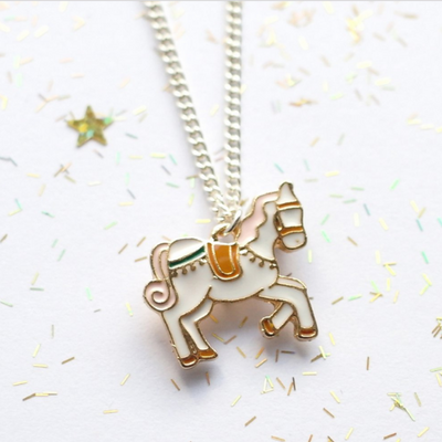 Lauren Hinkley White Horse Necklace