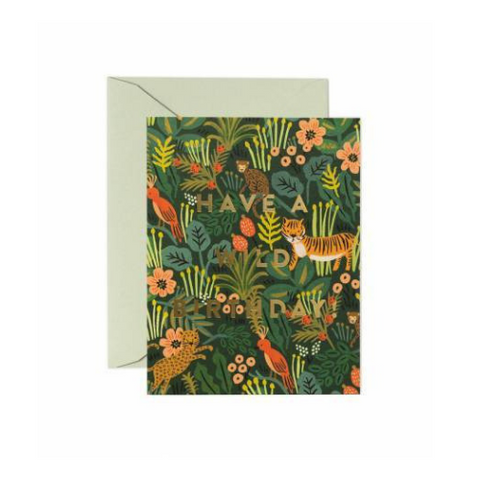 Rifle Paper Co Single Card Wild Birthday