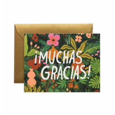 Rifle Paper Co Single Card Floral Muchas Gracias!