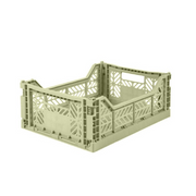 AY-KASA Midi Folding Storage Crate in Lime Green - The Corner Booth