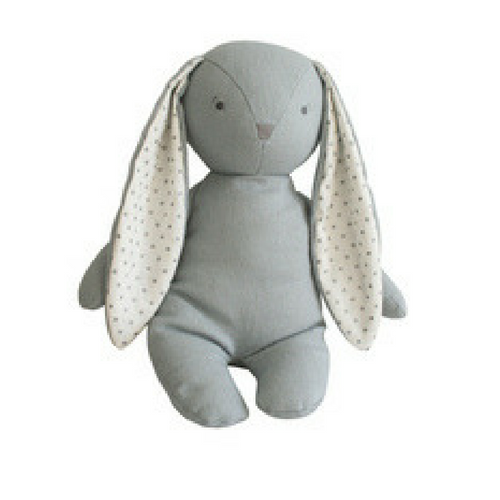 Alimrose Bobby Floppy Bunny in Grey Linen - The Corner Booth