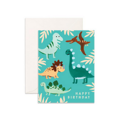 Birthday Dino's Greeting Card - The Corner Booth