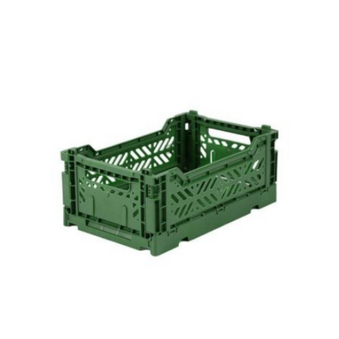 AY-KASA Mini Folding Storage Crate in Dark Green