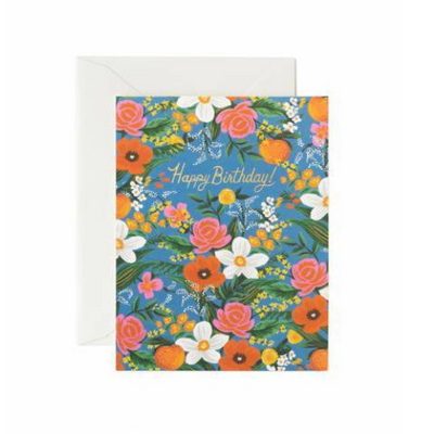 Rifle Paper Co Single Card  Orangerie Birthday