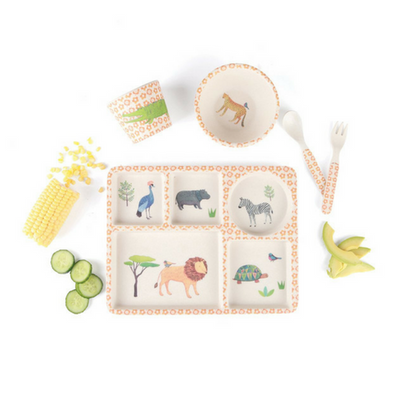 Love Mae Dinner Set On Safari-Kids Meal Sets-Love Mae Stockist Sydney