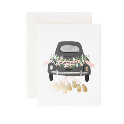 Rifle Paper Co  Single Card Just Married Getaway