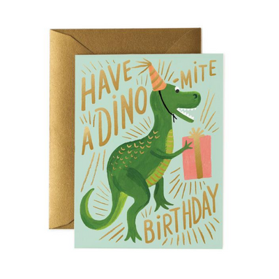 Rifle Paper Co Single Card Dino-Mite