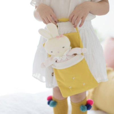 Alimrose Baby Doll Carry Bag in Butterscotch Linen