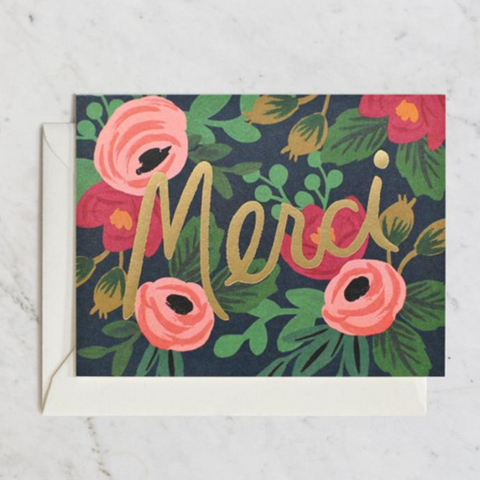 Rifle Paper Co Single Card Merci