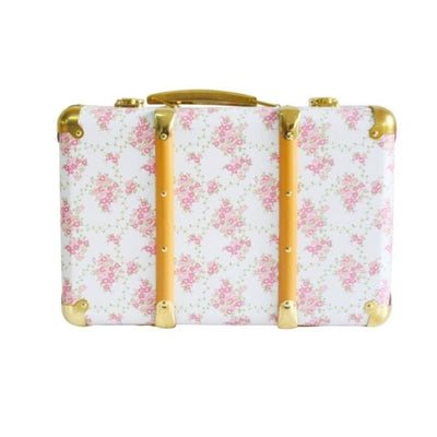 Alimrose Vintage Style Carry Case in Floral Wreath in White