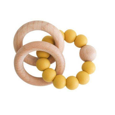 Alimrose Beechwood Teether Rings Set