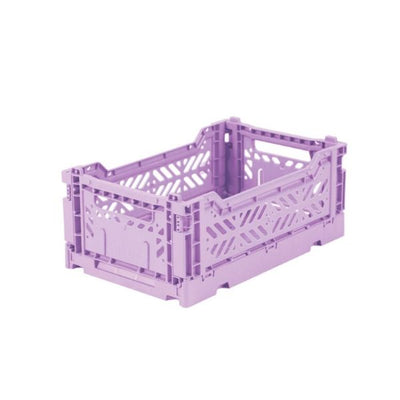 AY-KASA Mini Folding Storage Crate in Orchid