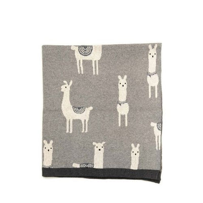 Baby Blanket Logan Llama Blanket - The Corner Booth