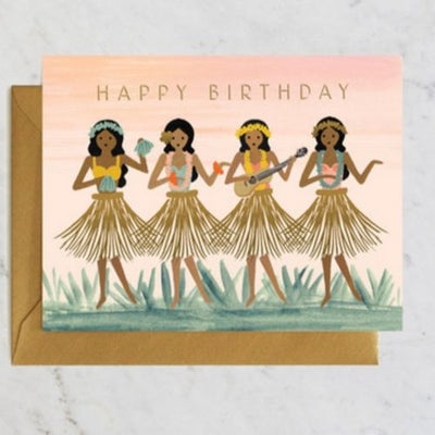Rifle Paper Co Single Card Hula Birthday