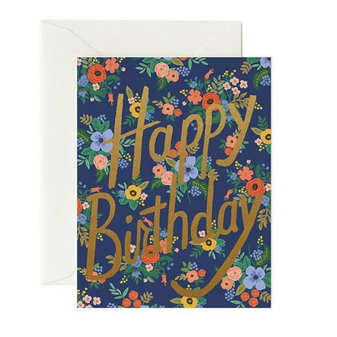Rifle Paper Co Single Card Garden Birthday