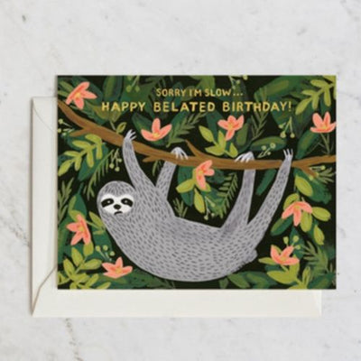 Rifle Paper Co Single Card Sloth