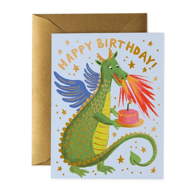 Rifle Paper Co Single Card Birthday Dragon