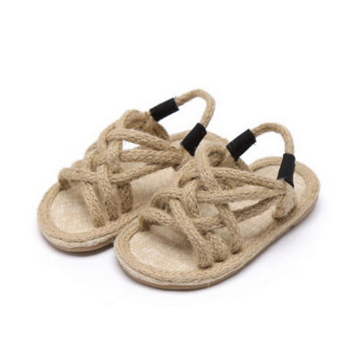 Children's Cross Strap Hemp Rope Sandal - The Corner Booth