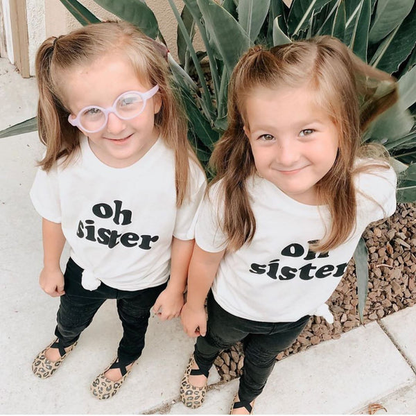 Oh Sister Kids White Tee