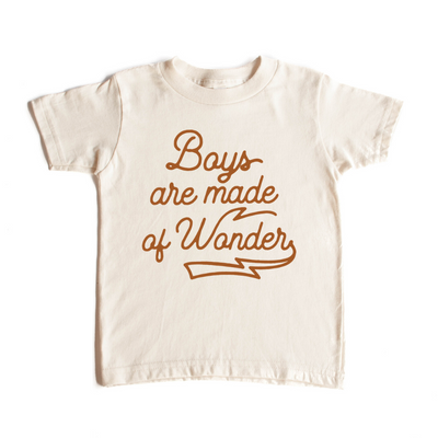 Boys are made of wonder onesie or tee.