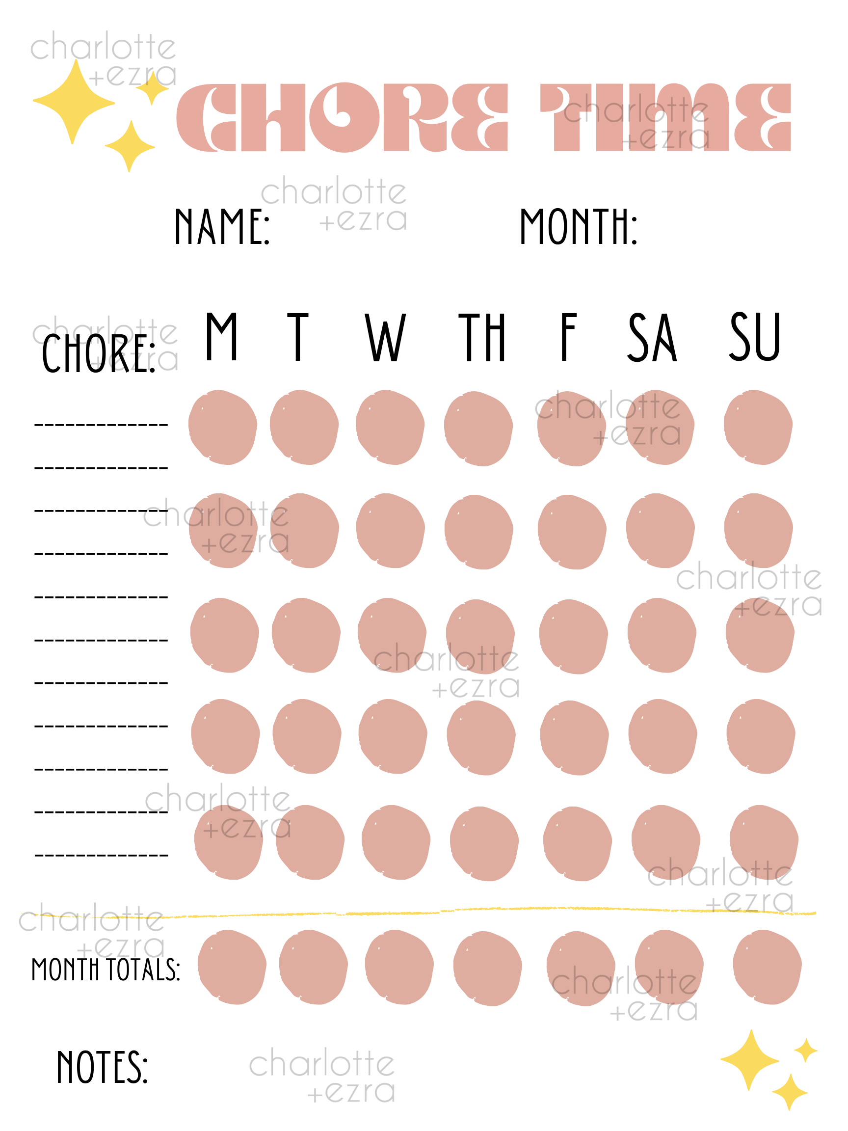 Chore Chart Poster