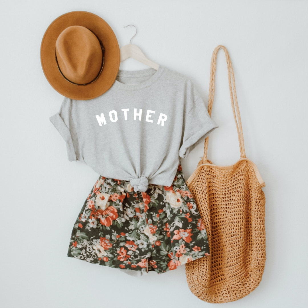 Mother heather gray tee